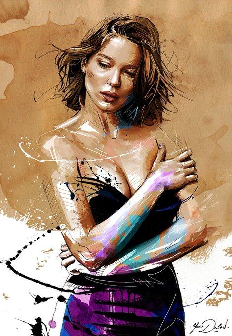 Happy Birthday Lea Seydoux. This beautiful artwork is by