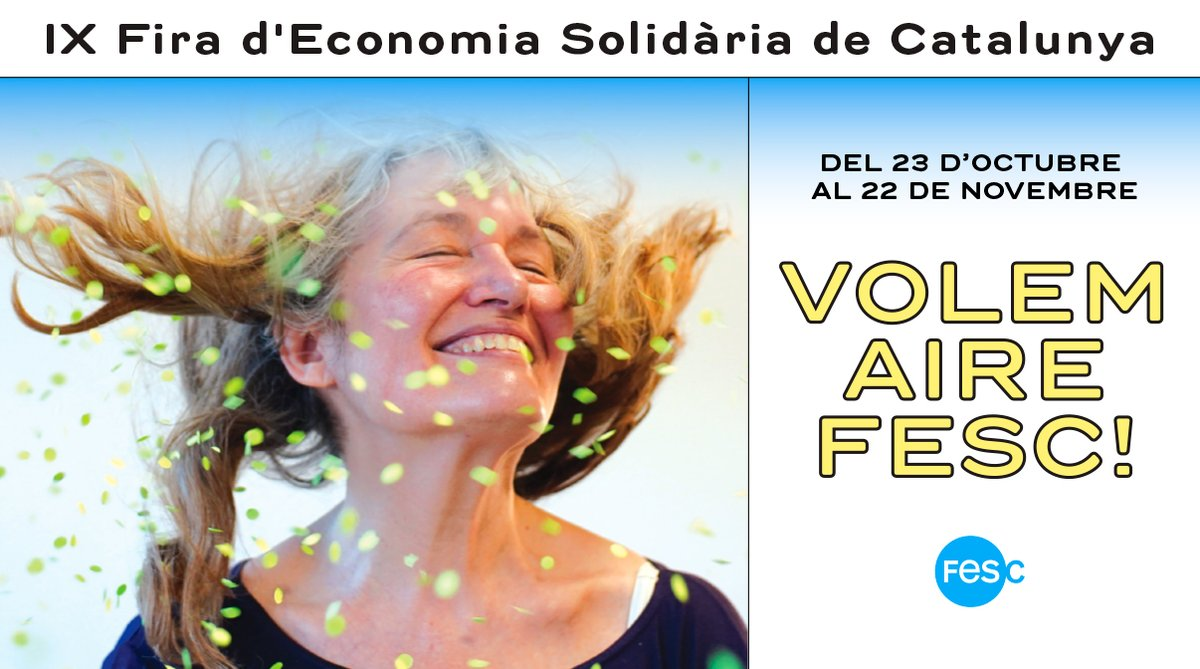 📢Atenció! Us presentem el cartell i el lema de la #FESC2020.        Volem alternatives, compromís ambiental, cures... Volem #AireFESC ‼️   Aquest any la fira serà (sobretot) virtual així que esperem arribar a tot arreu!        ℹ️ https://t.co/JkXLdX2ouw https://t.co/rdToE7Jxc8