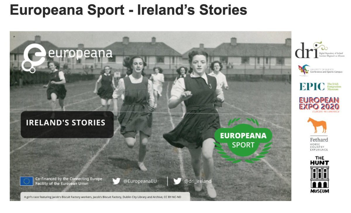 """Next from the ARA,I news desk:   2/2 Check out """"Europeana Sport: Ireland's Stories"""": Looking for contributions and more partners here 👇 (From June - Dec 2020)  https://t.co/Cr7WkUibBO  #IrishArchives #IrishSport #OralHistories https://t.co/Y6LVVVxyuF"""