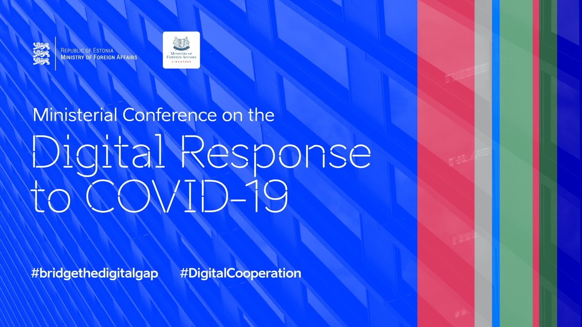Happening today! #Estonia and #Singapore are co-sponsoring a Global Declaration on the #Digital Response to #COVID-19. This declaration will be launched at a #videoconference at the level of FMs. #digitalcooperation #bridgethedigitalgap LIVE at 14:00 CET: https://t.co/fQAust4Zjk https://t.co/38Q6WqhUyI