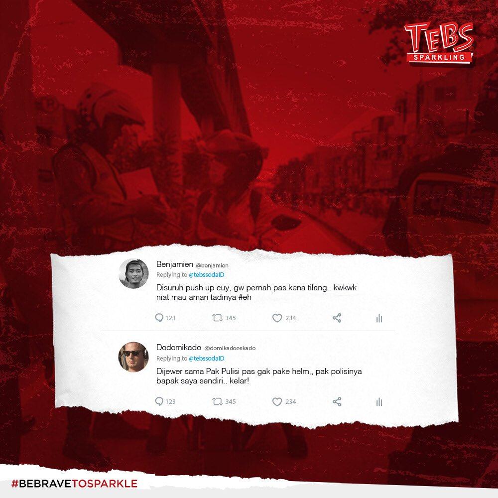 Hayo Tebsholic ngaku siapanih yang suka panik atau degdegan kalau ketemu Polisi dijalan??  Coba sharing yuk pengalaman seru apa aja yang pernah lo alamin!  Comment dibawah yaa Tebsholic!  #Tebs #Sparkling #BeBraveToSparkle https://t.co/0qIG2PHWfC