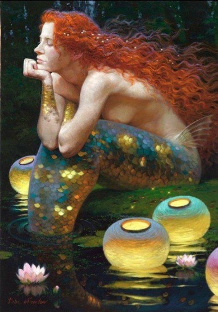 Russian painter Victor Nizovtsev.