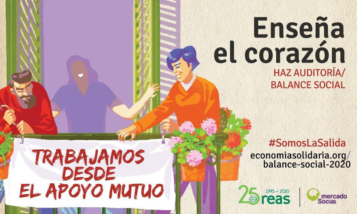 La #EconomíaSolidaria trabaja con conciencia ecológica por eso #SomosLaSalida a la crisis ecológica actual. Para demostrarlo y apoyar a las entidades de la #ESS en esta crisis post #Covid19, abrimos fase de Balance Social para mitigar sus impactos ¡Súmate! https://t.co/SPfhtHVBfw https://t.co/XCmS2BT7gk