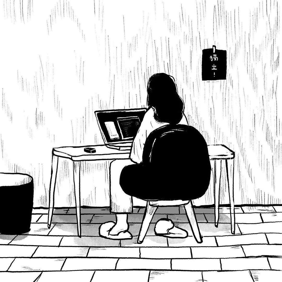 Eerie comic about Hongkongers scrubbing their social media in anticipation of the National Security Law (source: tsesaipei on IG) 1/2 https://t.co/UT54phI1jQ