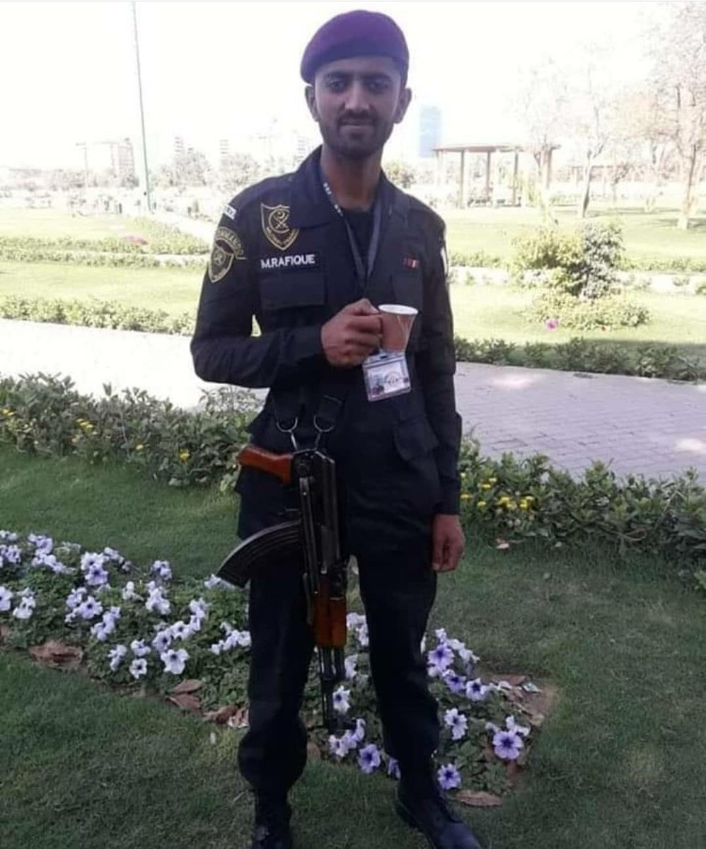 This innocent & kind looking guy slayed two fully armed terrorists within seconds and that too by headshots. Most law enforcement fellows are not the tallest or the most muscular but they have got nerves of steel. Salute to all of them.  #RafiqueSoomro #PSXAttack<br>http://pic.twitter.com/3I9R1lmg98