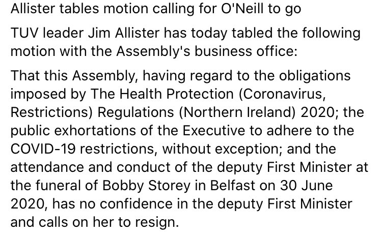 I have tabled a motion of no confidence in the deputy First Minister which you can read here 👇