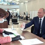 Image for the Tweet beginning: The President visited polling station