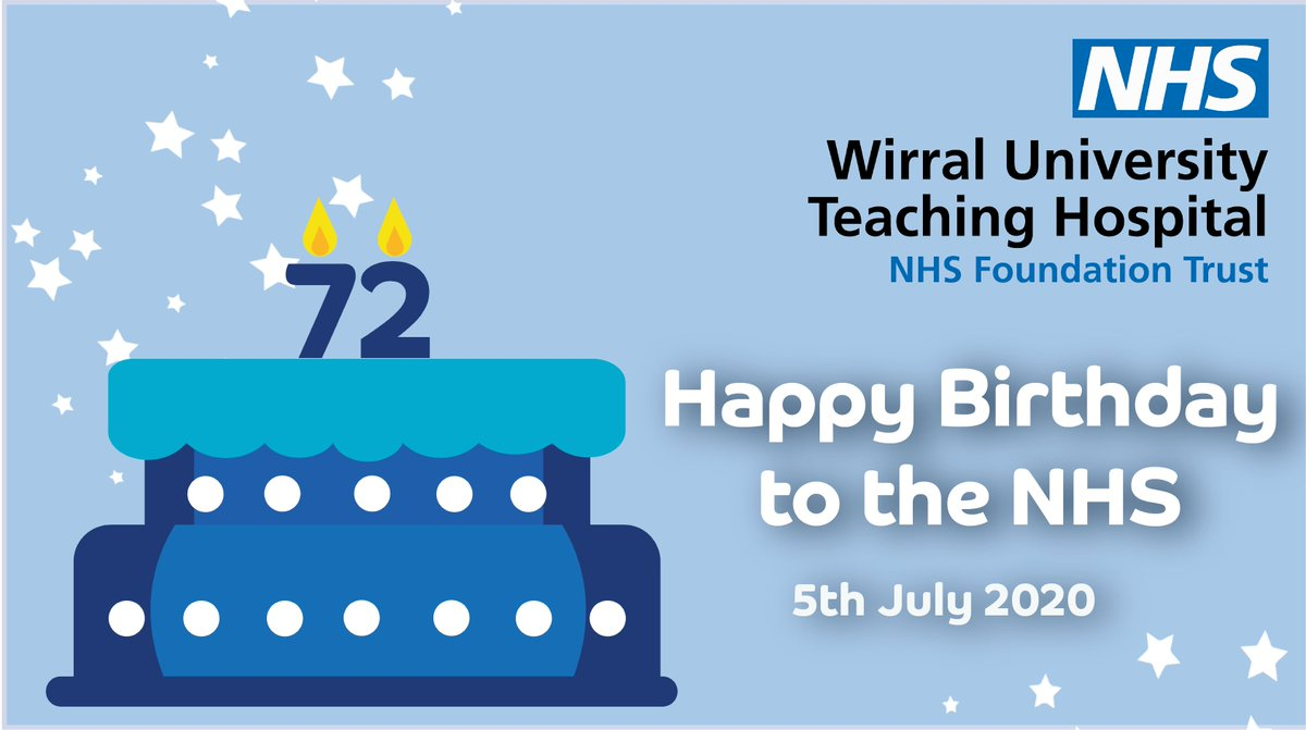 Happy Birthday to the NHS! 🎂🎁 Today is the 72nd birthday of the National Health Service (NHS) and we want to celebrate all our amazing staff who have worked so hard during the past few months. #NHSBirthday