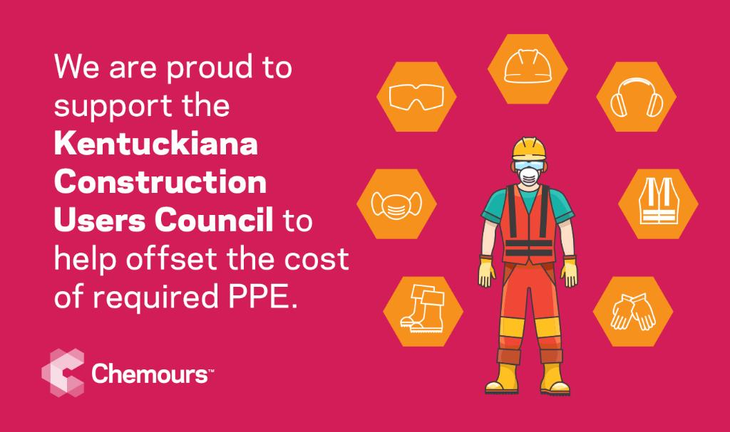 During #NationalSafetyMonth, we are proud to support the Kentuckiana Construction Users Council to help offset the cost of required #PPE, allowing them to provide critical safety trainings for businesses & contractors throughout the greater Louisville area. #EmbracingNewNormals https://t.co/vVZvyPyitI