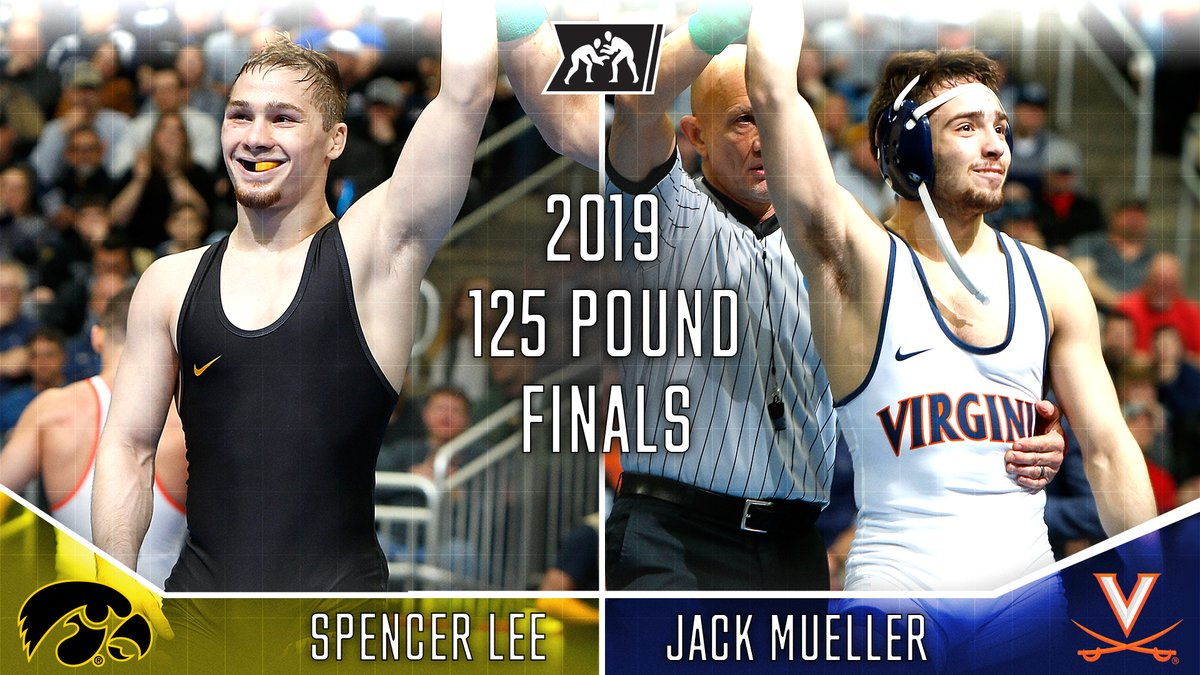 Join us Friday night at 7:00pm EST, to watch the entire 2019 125 pound #NCAAWrestling Championship match between @Hawks_Wrestling Spencer Lee and @UVAWrestling Jack Mueller. https://t.co/3tjC7zFQAO