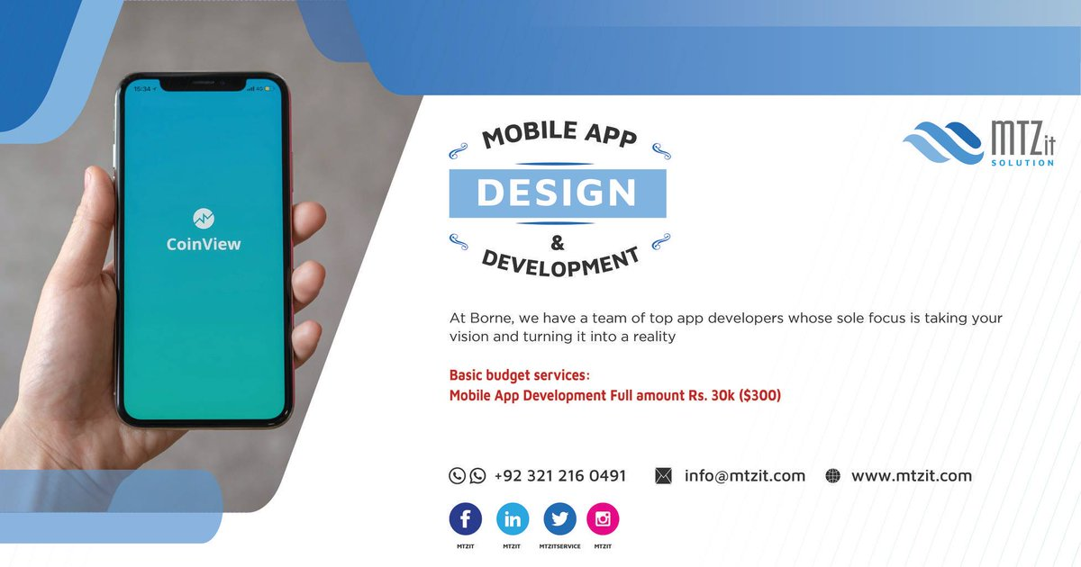 MTZ provide Professionals & Creative Services We can develop your MobileApp exactly in the way you want! https://t.co/zOF2QTpJMv  #mobileapp #webapplication #mobileisoandroid  #mobileapplicationsoftware #appstoreandroid  #androidappdevelopment https://t.co/U5zadA4YgW