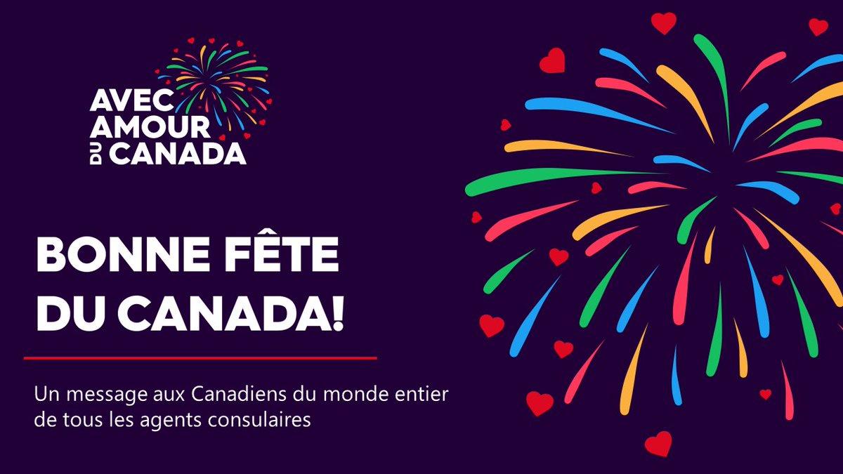Bonne Fete du Canada! Une message aux Canadiens du monde entier de tous les agent conculaires https://t.co/rmwFZ7W2j9 https://t.co/7bcrZQmLth