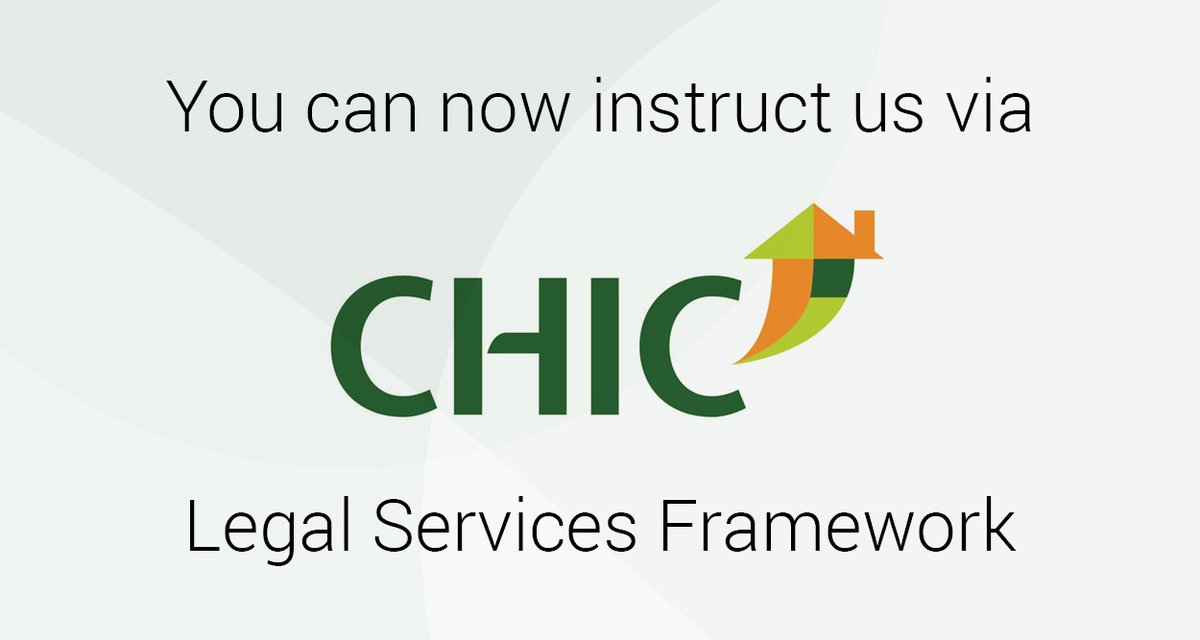 Delighted to be part of the @CHICltd Legal Services Framework, on ALL Lots. https://t.co/FO1hEVKwIT https://t.co/18MKul7Uud