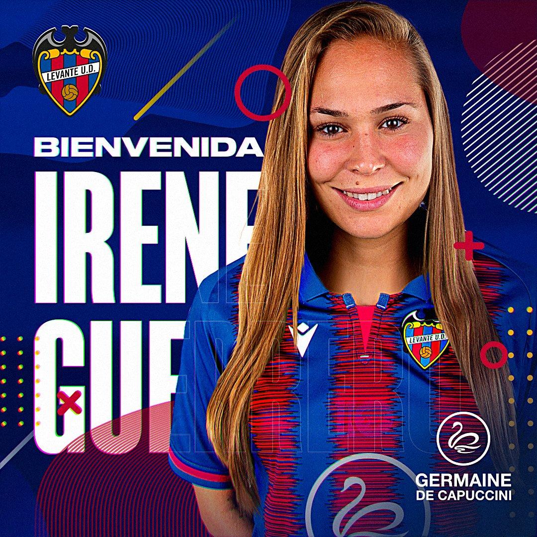 La centrocampista Irene Guerrero (@ireneGS8), nuevo fichaje del @LevanteUD 👏🏼  ✌🏼 La internacional firma para las dos próximas campañas  🏠🐸 Bienvenida a tu nueva casa, Irene  #LevanteUDFemenino https://t.co/KncXAl7y3B