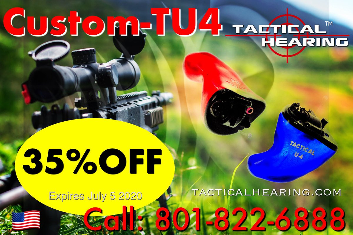SAVE BIG on our Custom TU4:  $800 OFF! Call Today: 801-822-6888 #tacticalhearing @tacticalhearing #earpro #earprotection #shooting #hunting #hearingaids #heartheunheard #shooters #biggamehunting<br>http://pic.twitter.com/pRfNtkGVTT