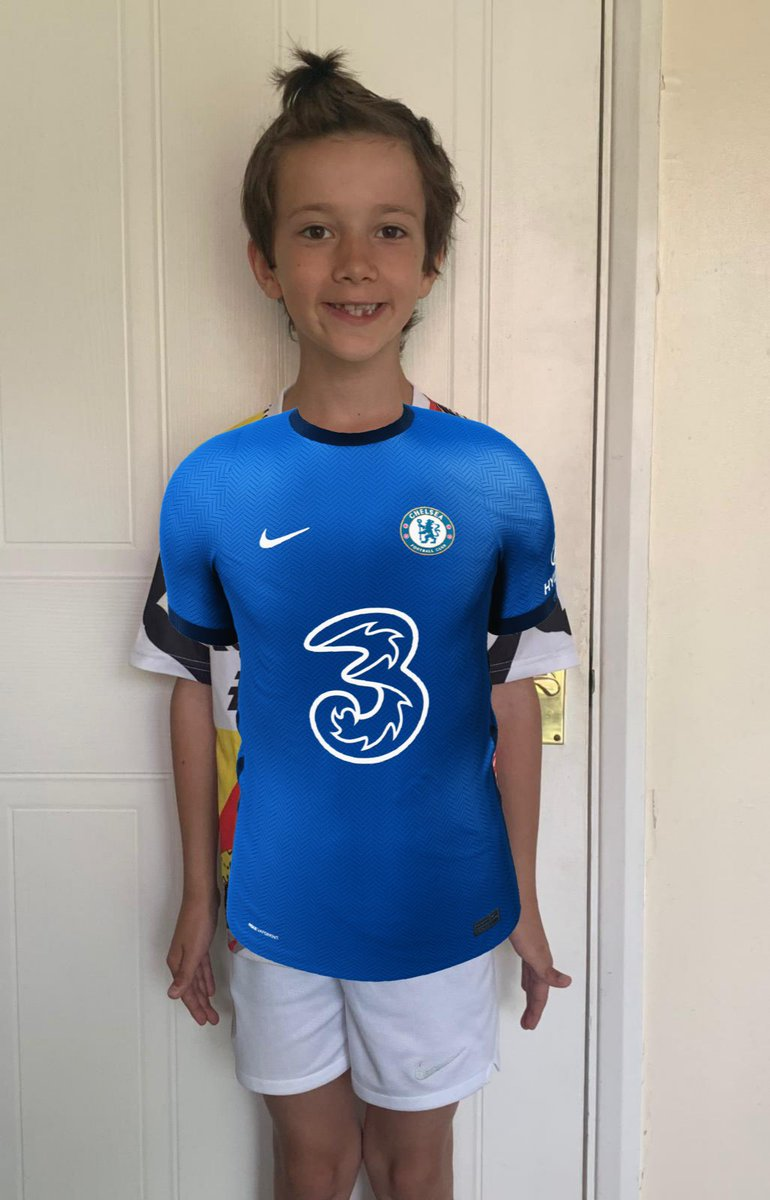 @ChelseaFC virtual kit launch this morning was a great! Can't wait to get the real thing #connectthegame @ThreeUK