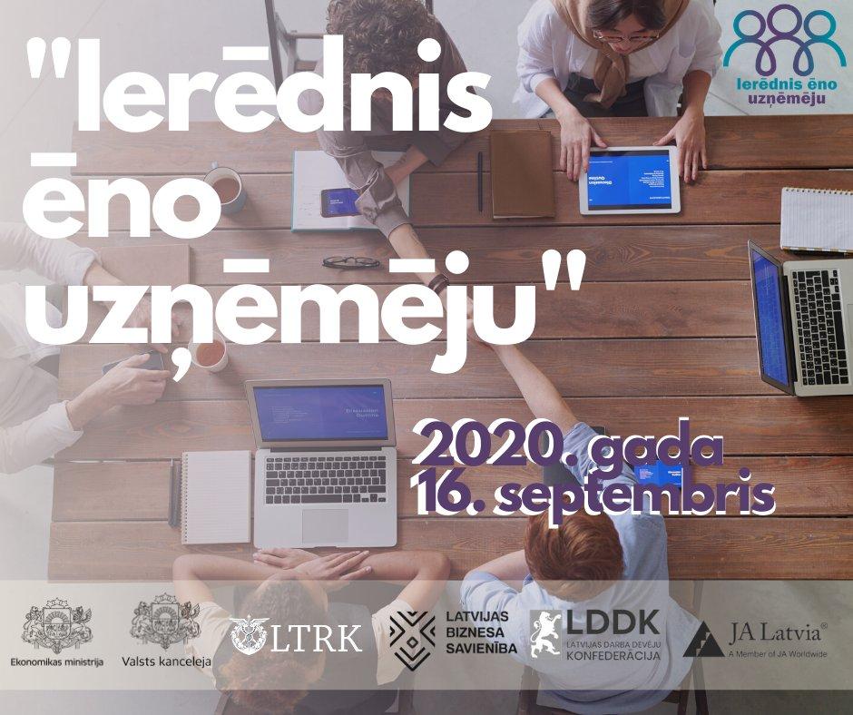 """16. septembrī jau otro reizi Latvijā notiks iniciatīva """"Ierēdnis ēno uzņēmēju""""! Aicinām valsts pārvaldes darbiniekus izmantot iespēju, iepazīt uzņēmēju ikdienu, konsultēt, palīdzēt, atbalstīt! Plašāk: https://t.co/F3weUN5TMk #atbalstsuzņēmējiem https://t.co/LkTzbesCdX"""