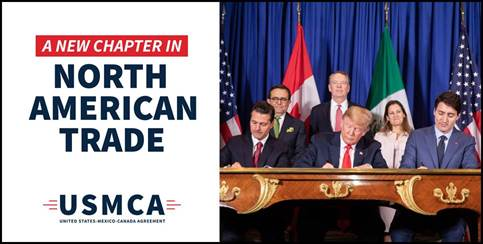 #USMCA becomes effective today.  This agreement will provide increased opportunities for Ohio manufacturing, agriculture, and small businesses. It is a historic day for U.S. trade.    Promises kept by @realDonaldTrump! https://t.co/Mc77fEuy68