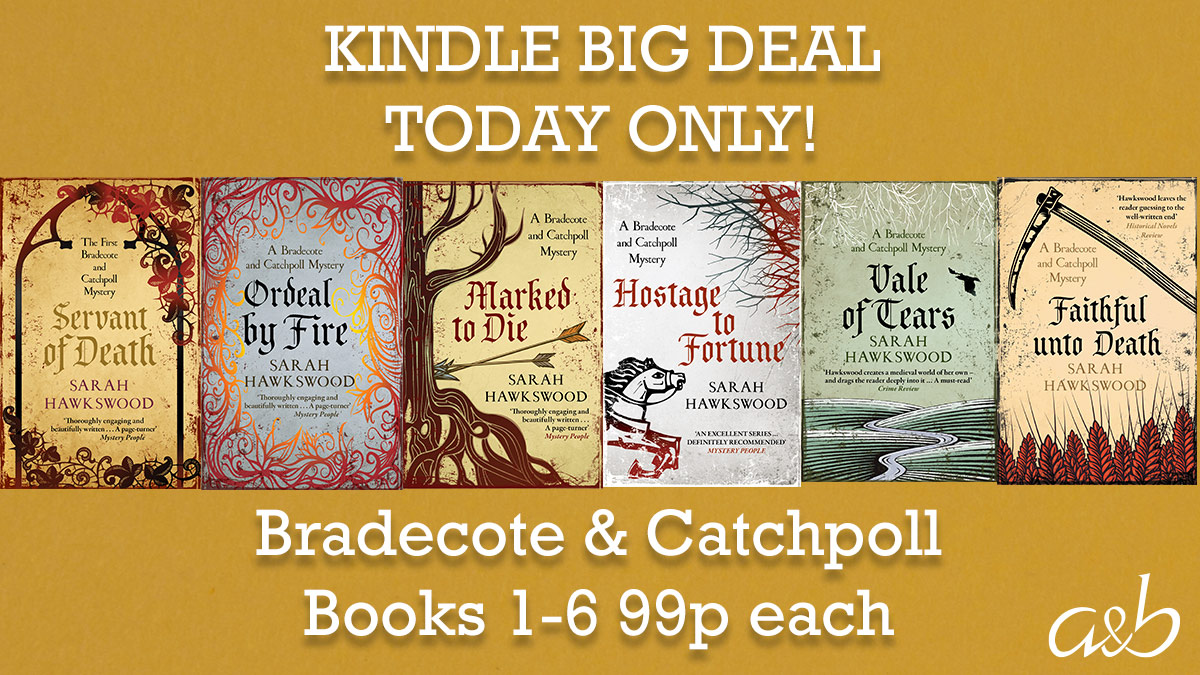 📚ICYMI - today's #Kindle #BigDeal is @bradecote's SIX #BradecoteandCatchpoll medieval mysteries. Get each for just 99p or £5.94 for the complete set! https://t.co/Ej7UOBEkFe  #crimefiction #HistoricalFiction #histfic #eBookDeal  📚📚📚📚📚📚 https://t.co/mzYUPBB0cY