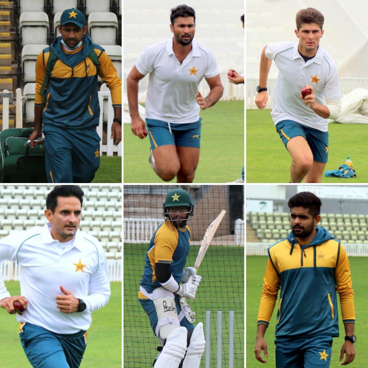 Day 2: Pakistan team practice session is underway at Worcester, England.  PC: PCB   #ENGvPAK #Cricket #Pakistan #SarfarazAhmed #SohailKhan #ShaheenShahAfridi #MohammadAbbas #ImamUlHaq #BabarAzam https://t.co/KoPhDbchjk
