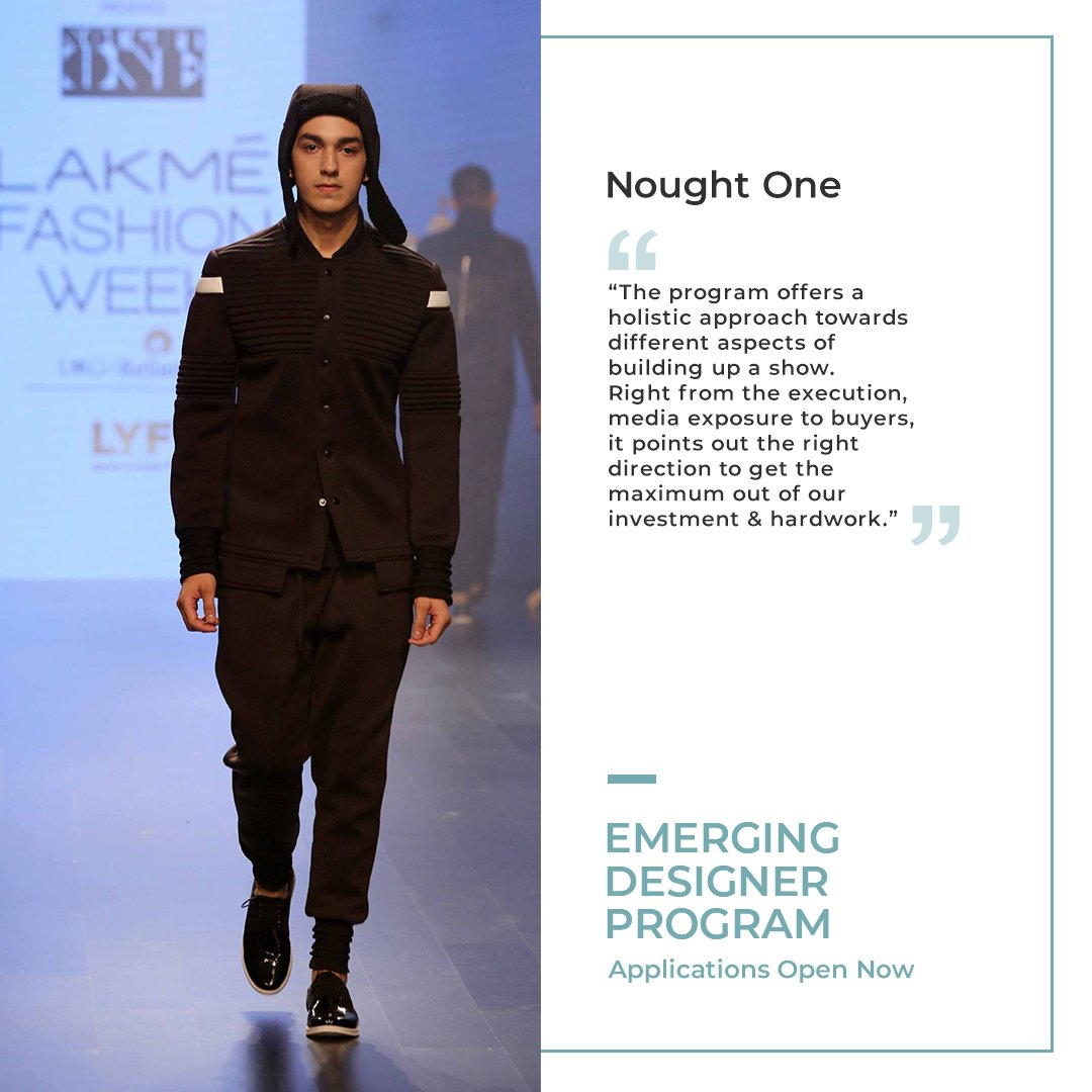 Credited for spearheading Athleisure in the Indian space & putting its name on the globe in the Urban Street Style scene, #NoughtOne by Abhishek Patni is a perfect unison of street & tailored opulence.   Apply for the #EmergingDesignerProgram here: https://t.co/lczh6PSJXA  #LFW https://t.co/SkJNwurYE6