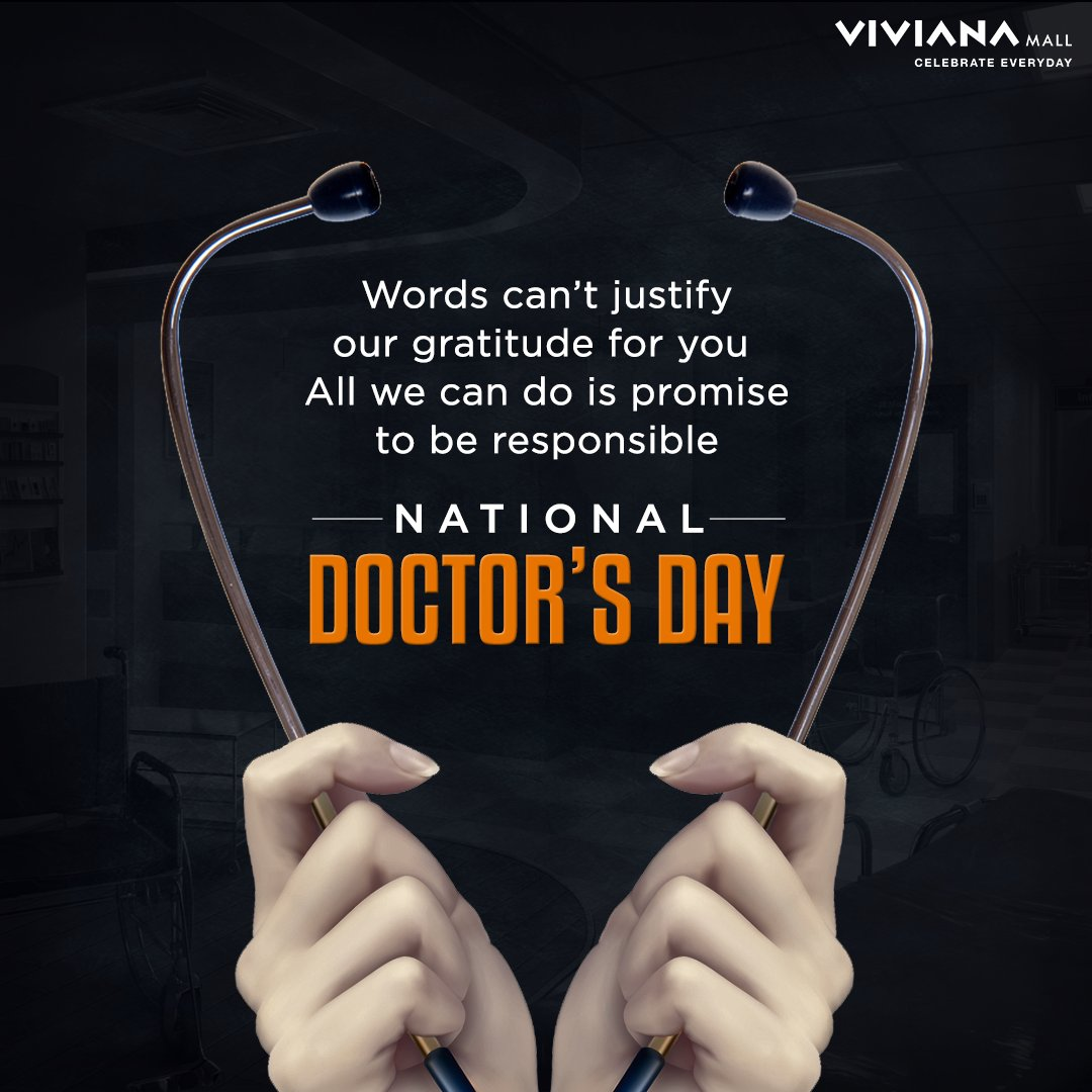 This Doctor's Day, let's take #EkNayaKadam by pledging to act responsibly so that we can reduce the pressure on our healthcare workers. Let's express our gratitude by following the rules, staying home and not adding to their burden. #NationalDoctorsDay #VivianaCares #VivianaMall https://t.co/ZABF6zCuNx