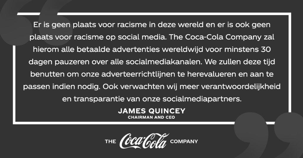 We pauzeren onze advertenties op alle socialmediakanalen wereldwijd voor minstens 30 dagen. We gebruiken deze periode om de platformen en hun werkwijzes opnieuw te beoordelen en willen zo verantwoordelijkheid stimuleren voor het creëren van een veiligere, haatvrije omgeving. https://t.co/YP8zSxdam3