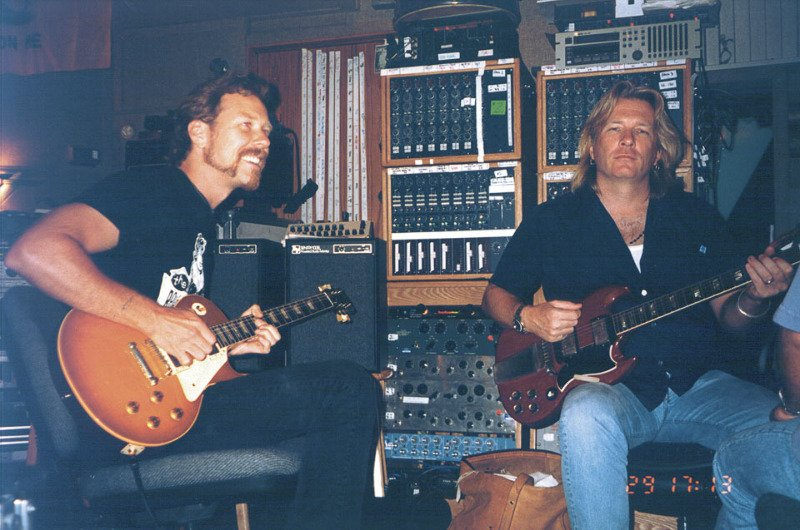 July 1st, 1997: #Metallica resumed recording of the album 'ReLoad' at The Plant Studios.