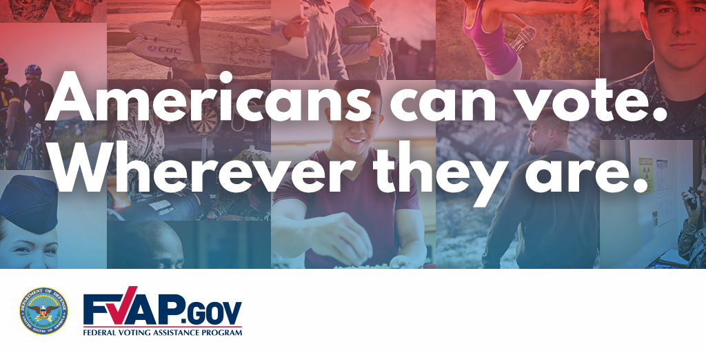 #DYK - It is #ArmedForcesVotersWeek and #OverseasCitizensVotersWeek! Check out the @FVAP Facebook and Instagram Story as they share absentee #voting tips and resources for military members, their families, and U.S. citizens living abroad all week long. https://t.co/bvW8Eo4tlP https://t.co/nELLM227w8