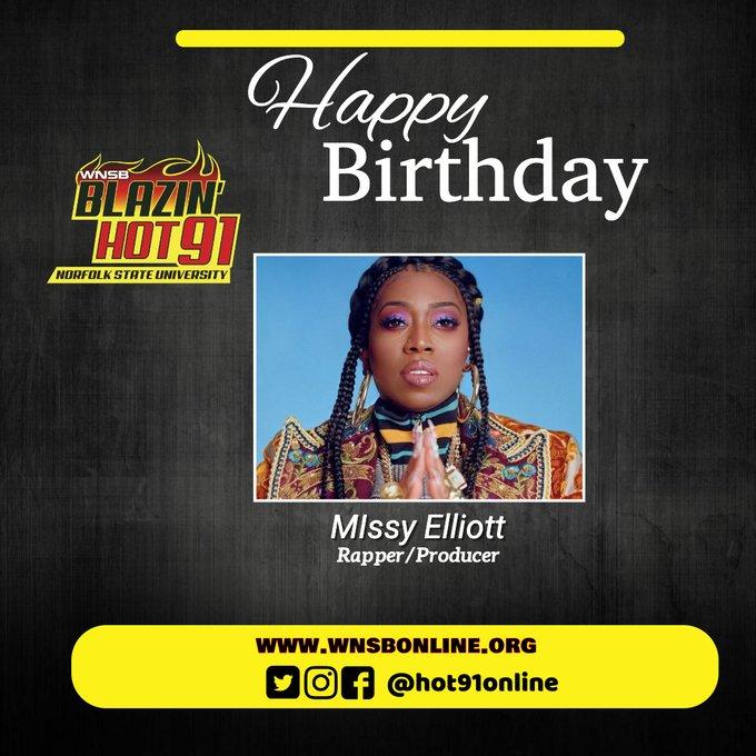Happy Blazin\ Hot Birthday to VA\s own Missy Elliott