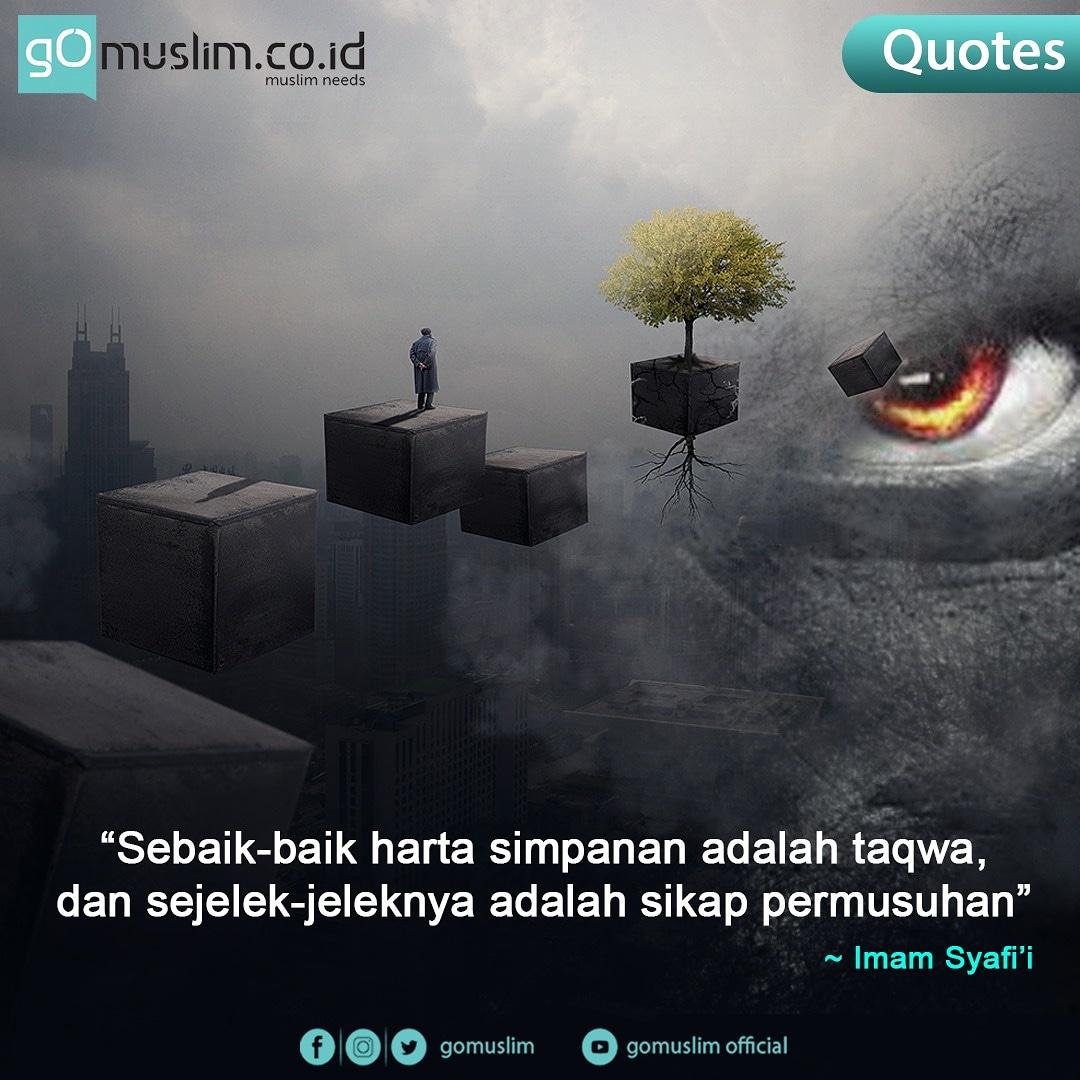 """""""Sebaik-baik harta simpanan adalah taqwa, dan sejelek-jeleknya adalah sikap permusuhan""""  - Imam Syafi'i -  Update berita islam terkini di https://t.co/LL1onjNQ4a   #quotes #quotesoftheday #quotestoday #quotesislam #quotesislami #katakatabijak #katakatamenarik https://t.co/V2TblubdHK"""