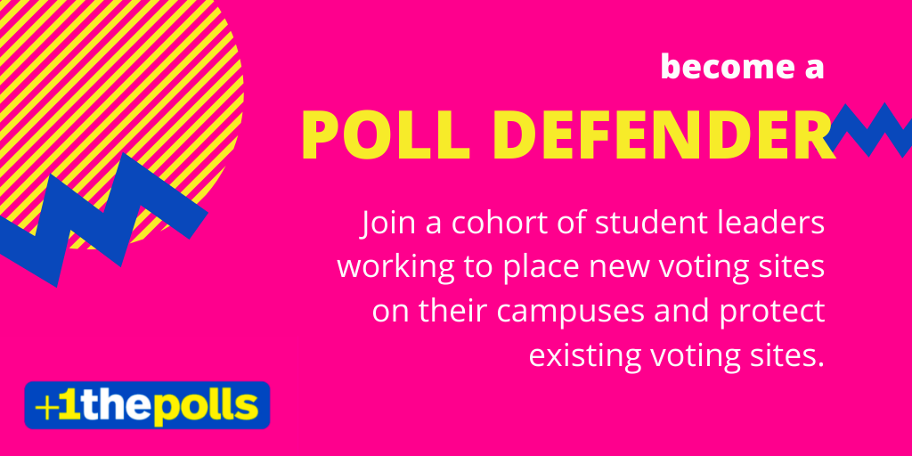 We have seen the impact already this year of massive voting site closures. Its up to you to defend them 🦸 Join us, @MTV, @campusvote, @alliance4youth to learn more about what being a #PollDefender means this afternoon at 4 pm ET: bit.ly/polldefendersw…
