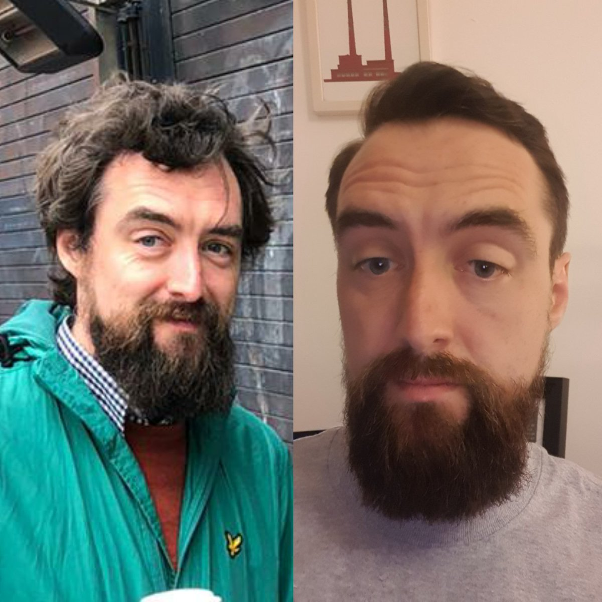 The difference a day and a haircut makes.