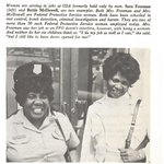 Meet Sara and Bettie, two women who were GSA Federal Protective Service officers in 1972.   #DYK? FPS was part of GSA until it moved to @DHSgov in 2003 under the Homeland Security Act.