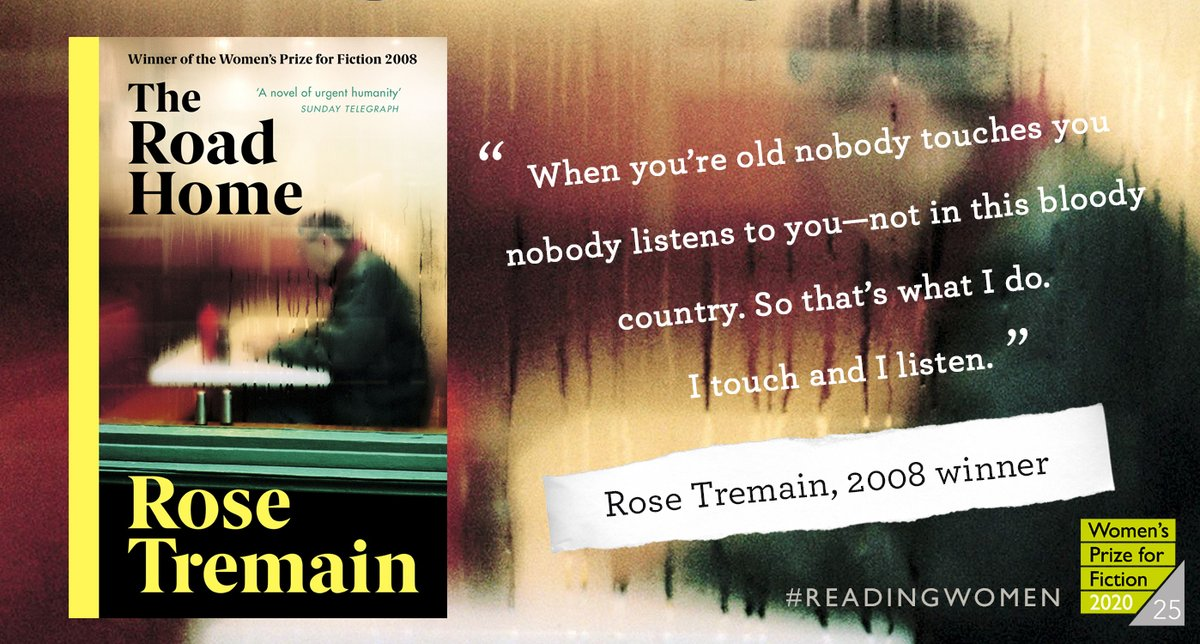 The next book on our year of #ReadingWomen is Rose Tremain's marvellous 2008 winner The Road Home 🙌  Head to our website for podcasts, extracts and author interviews, plus a very special 25% discount @Waterstones on all previous winners: https://t.co/JL1m67dD9f https://t.co/l6zeOyuncN