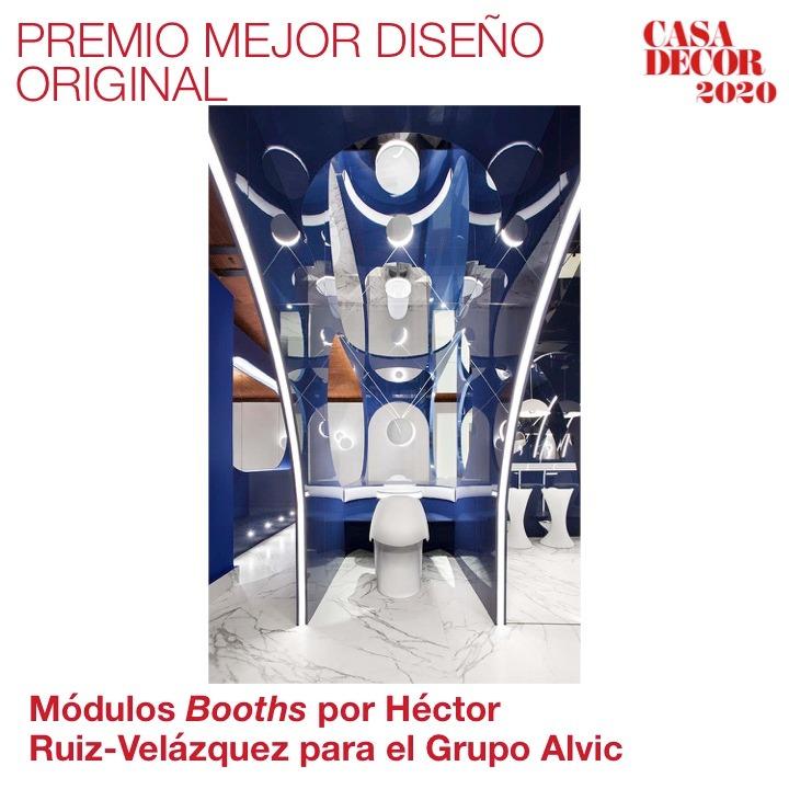.@HRuizVelazquez recibe el Premio al Mejor Diseño Original por el 'Alvic Blue Moon Bar' realizado para @ALVIC_ESP. ¡Gran trabajo! #CasaDecorSostenible #Velázquez21 #PremiosCasaDecor #CasaDecor2020  En directo 👉https://t.co/KHvRRnN18G https://t.co/HfVMCwfNTc