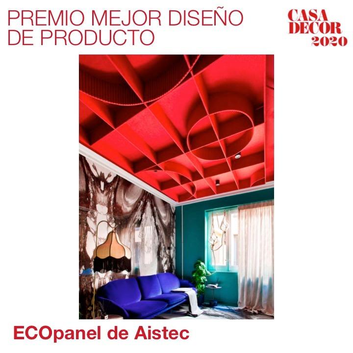Y el Premio al Mejor Diseño de Producto es para #Aistec por el ECOpanel, muestra de sostenibilidad y estética en #CasaDecor2020. ¡Enhorabuena! #CasaDecorSostenible #Velázquez21 #PremiosCasaDecor En directo 🔊 https://t.co/KHvRRnN18G https://t.co/qpMDu7nz21