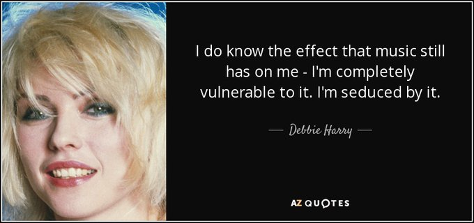 Happy 75th Birthday to Blondie [Deborah Harry], who was born on this day in 1945 in Miami, Florida.