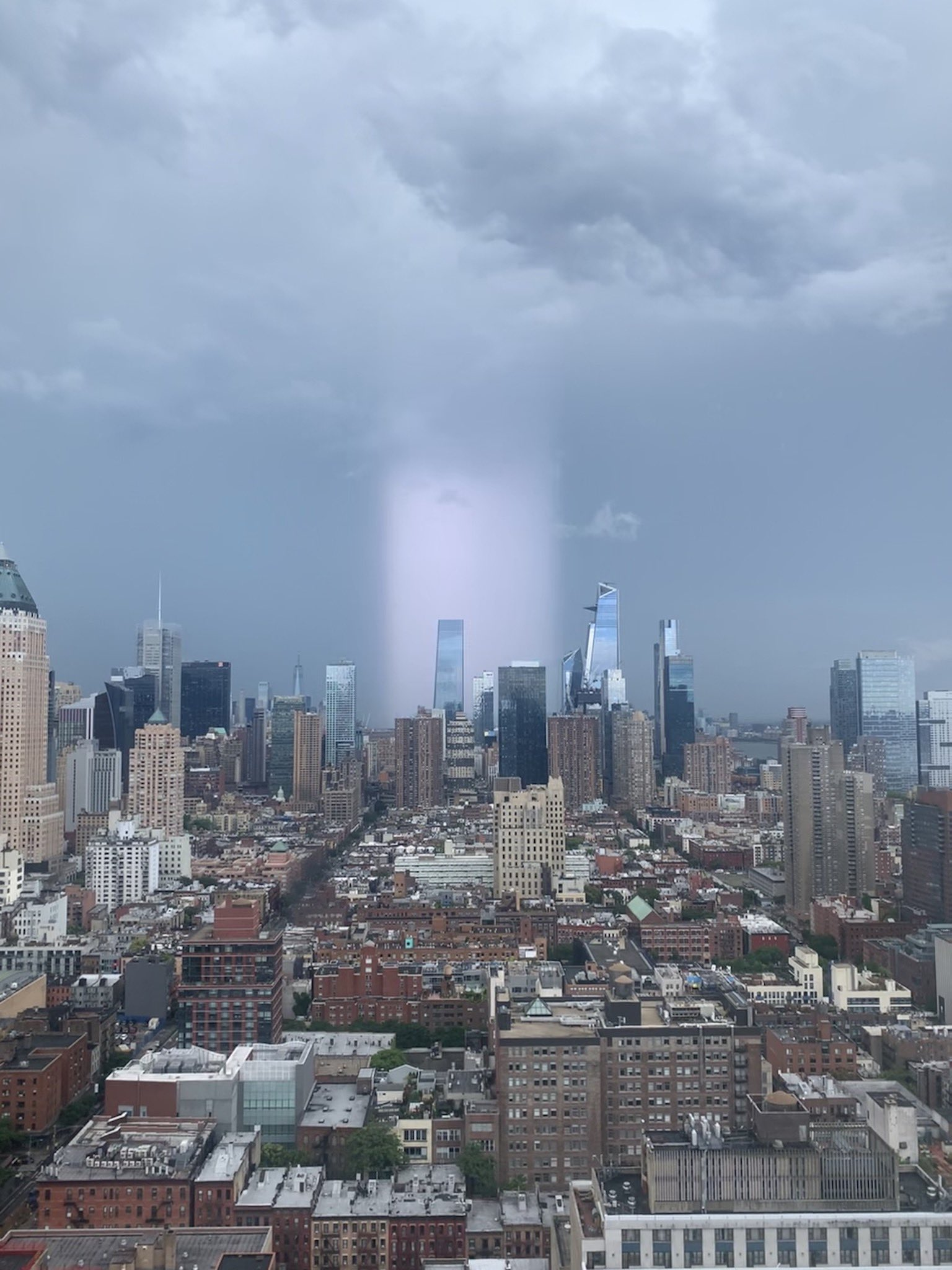 Halo Of Light Over New York City