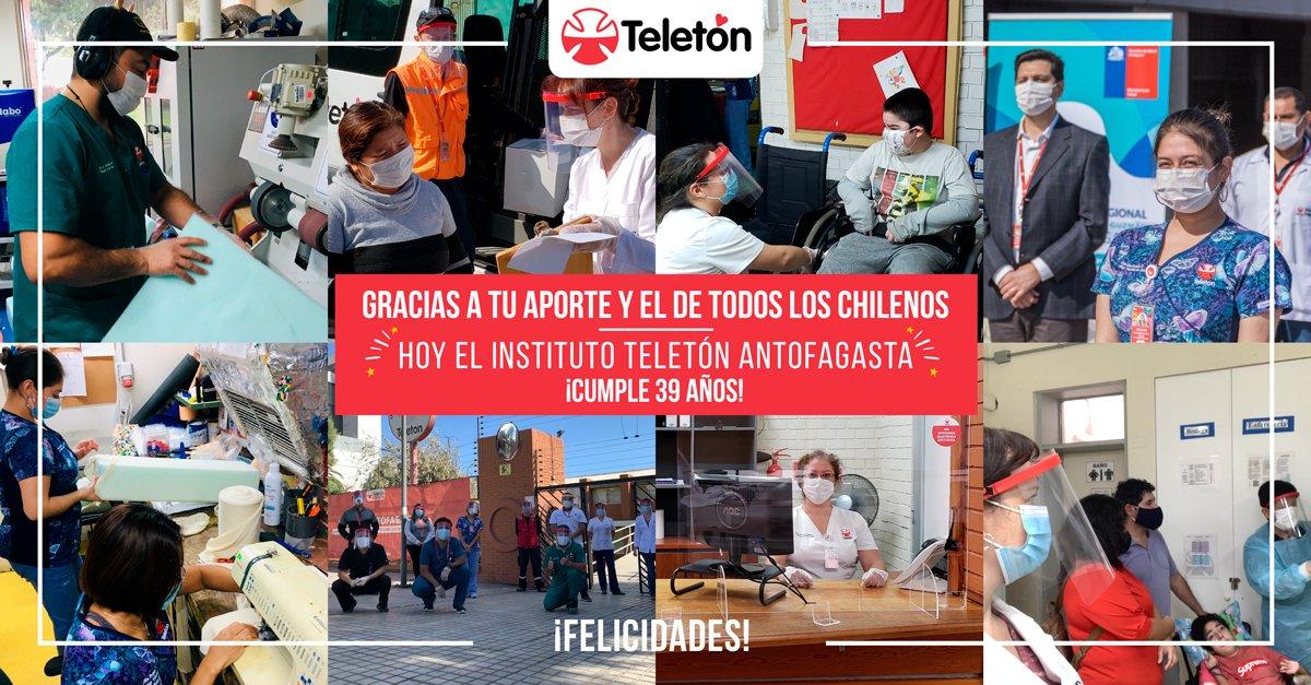 #UNDÍACOMOHOY  Hace 39 años se inauguraba el Instituto #Teletón de Antofagasta, convirtiéndose en el segundo instituto construido a nivel nacional 👏   ¡Felicidades! a todos los profesionales y familias que son parte de Teletón Antofagasta ❤ https://t.co/igBpWMA2eY