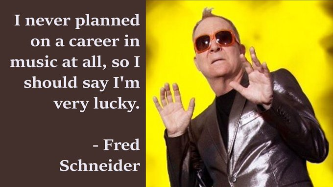 Happy 69th Birthday to the B-52\s Fred Schneider, who was born on this day in 1951 in Newark, New Jersey.