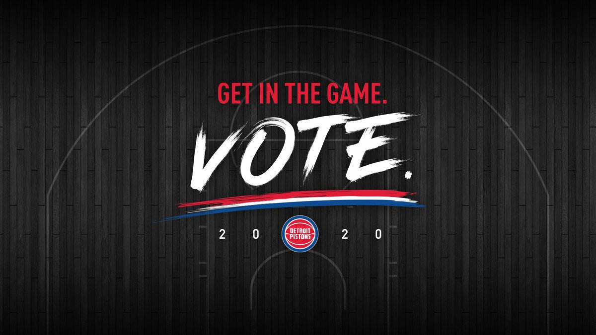 We are partnering with @michsos office and City Clerk of Detroit's Office on a series of initiatives to drive voter awareness and participation.   The @HenryFordNews Detroit Pistons Performance Center will serve as a voting center for the November 3 election. https://t.co/H6OaQgb5XR