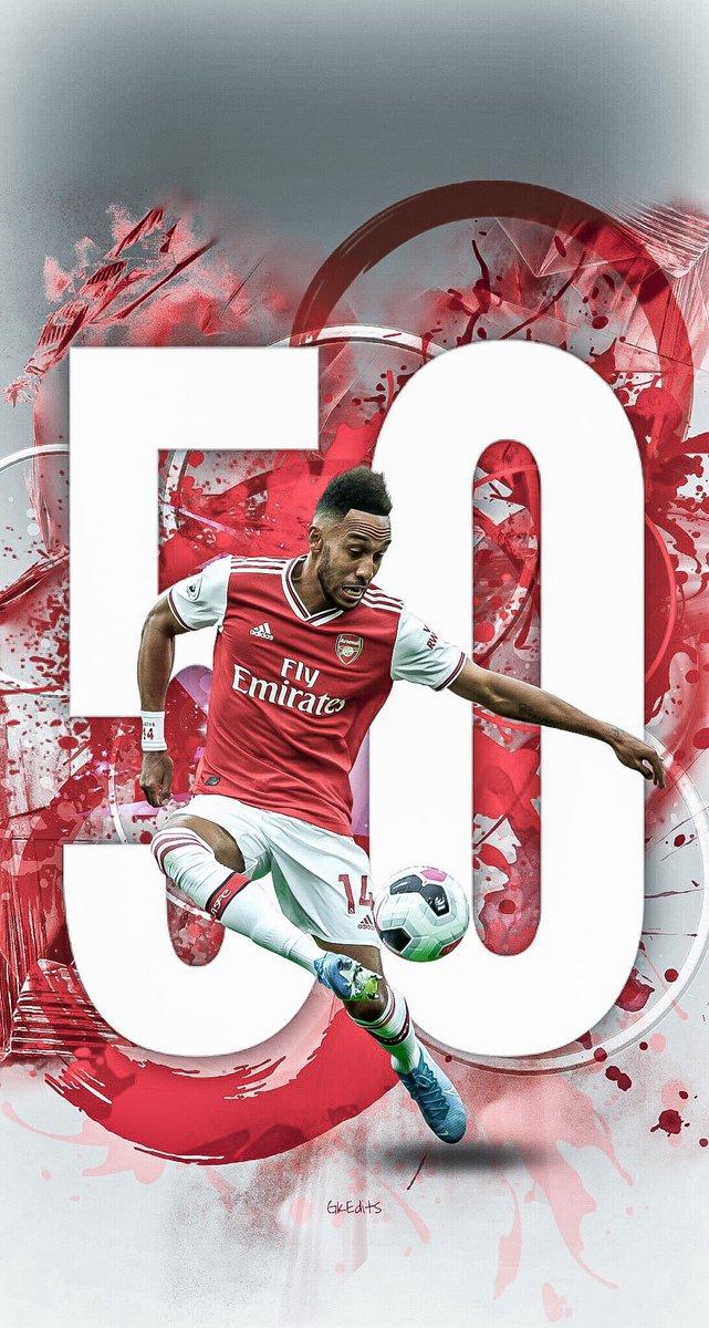 That's 50 premier league goals for @Aubameyang7 🔥🔥🔥