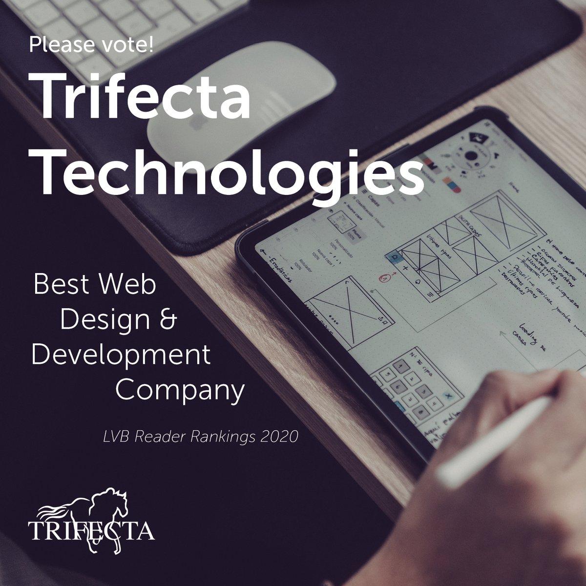 Vote #Trifecta for Best Web Design & Development Company in the 2020 @LVB_com Reader Ranking Awards! https://t.co/qwkxVwjn5O #readerrankings #bestof #ux #webdesign https://t.co/Xi2W8ldQG8