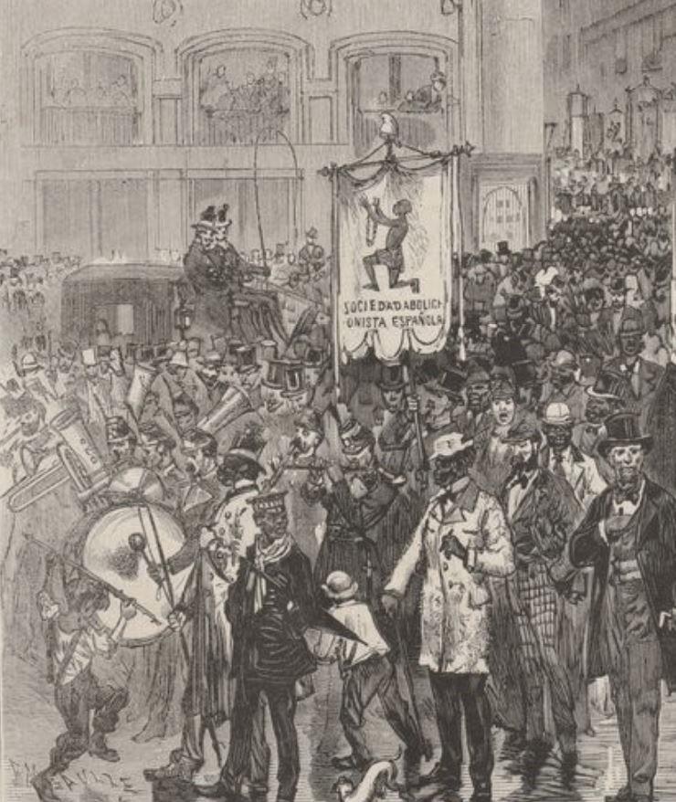 La Sociedad Abolicionista Española se manifestó en 1873 contra la esclavitud en la #PuertadelSol de #Madrid. Su presidente, Fernando de Castro, también impulsó la enseñanza de la mujer. Os contamos la historia de este hombre eminente y de su obra, ✍️https://t.co/sQ87FB0pmE ✍️. ☕️ https://t.co/CymoVTx3fu