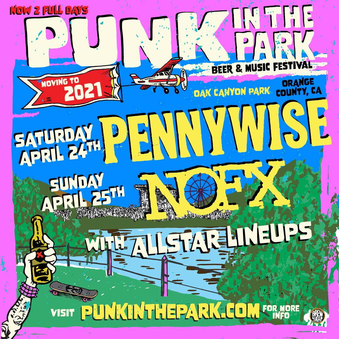 Punk In The Park in moving to 2021. More info at