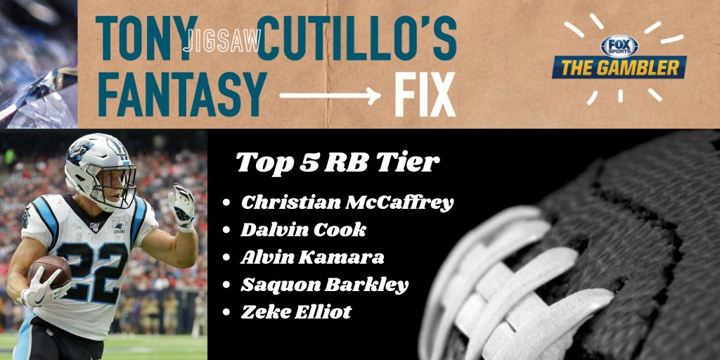 🚨#FantasyFootball: My Top 5 RB Update! I think #DalvinCook has a HUGE year & moved him behind CMAC. I still think #AlvinKamara comes back to life, but DC could be lethal!  Make sure you're following @foxphlgambler for all your #Fantasy/#DFS needs. I am adding new content daily! https://t.co/9XdFatp2Ce