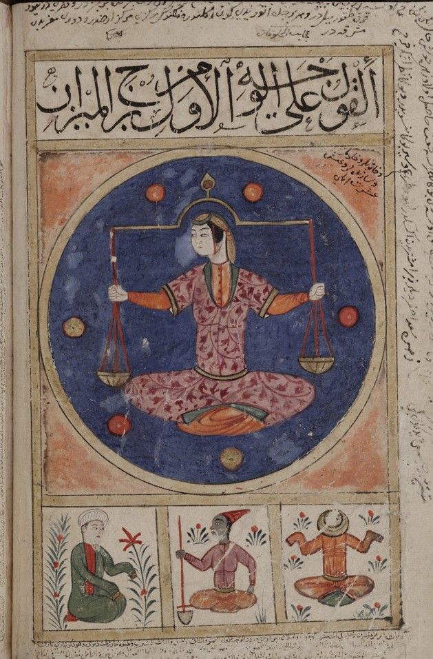 Libra has earned the reputation of harmony and beauty among the zodiac. For medieval Muslim astrologers, Libra was the pinnacle of justice and has a forgotten relationship with war.   A thread on Libra in astrology from the Islamic World- <br>http://pic.twitter.com/wMQItZJYV4