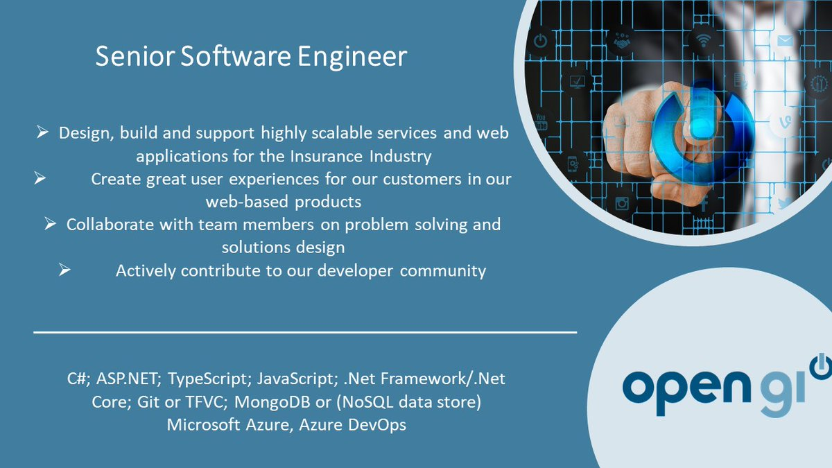 We are looking for a #softwareengineer based in #Winchester. If you enjoy working within a collaborative environment and looking to join a fast-paced agile development team, then get in touch today! To apply, please visit: https://lnkd.in/dij2NUd #jobsintech #technologyinnovation pic.twitter.com/xuKQf6xLm7
