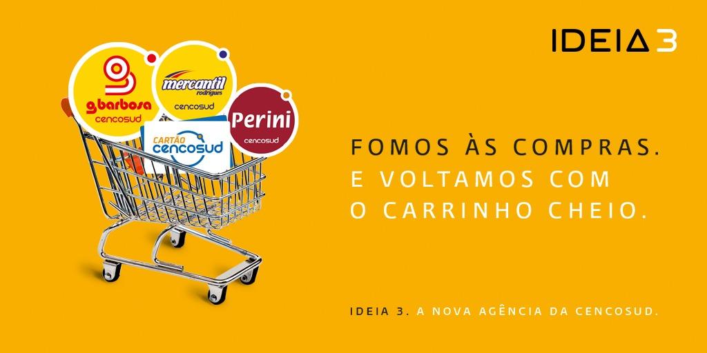 Bienvenida, Cencosud.  A equipe da Ideia 3 dá as boas-vindas à Cencosud Brasil e a suas bandeiras: @gbarbosa, @mratacado, @PeriniOficial e Cartão Cencosud. Temos certeza de que é o começo de uma longa parceria de sucesso. #GBarbosa #MercantilRodrigues #CartaoCencosud #Perini https://t.co/JDhNzxQukH